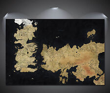 Game of Thrones Westeros Map Art Canvas Print - A0 A1 A2 A3 A4
