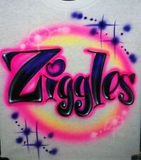 Airbrushed Custom T-shirt or Onesie Airbrushed Name, Personalized Name