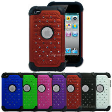 Diamante Tough Impact Case for Apple iPod Touch 4 4th Gen 4G Cover