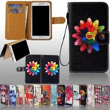 New Folio Wallet Card Stand Leather Case Cover For Various Samsung Galaxy Phones