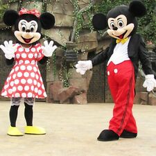 Adult 2pcs Mickey Minnie Mouse Mascot Costume Cartoon Clothes Celebrity Suit