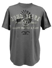 NEW John Deere Gray Quality Tractors and Plows T-Shirt Sizes M L XL 2X