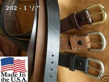 """Marc Wolf 1.5"""" 100% Leather Belt Big & Tall 202 Heavy Duty MADE IN USA TO 72"""