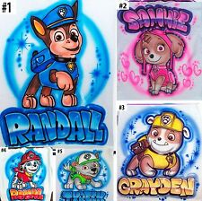 Airbrushed Custom T-shirt or Onesie Paw Patrol Pups Chase Sky Rubble Rocky
