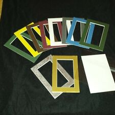 Mat 4 X 6 Various colors, Mounting Board, clear bag, framing, Scrapbooking photo