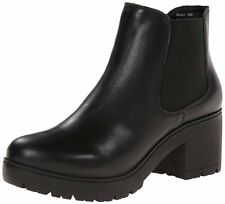 STEVE MADDEN RUMI BLACK LEATHER ANKLE BOOT