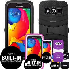 Rugged Hybrid Protective Phone Case Cover Skin with Built-in Screen Protector