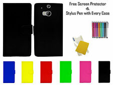 Premium Leather Pu Side Flip Wallet Book Case Cover Holder Pouch For HTC M8s UK