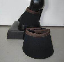 Horse Bell or Overreach Boots Black & Chocolate brown AUSTRALIAN MADE Protection