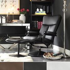 New Home/Office Bonded Leather Swivel/Rocker  Recliner Chair Brown/Black/White