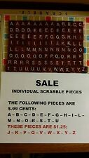 Scrabble Tiles Maroon Burgundy Red Single Sale of Tiles with White Lettering