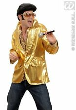 Fancy Dress King of Rock n Roll Gold Glasses Sparkle Microphone With FREE Quiff