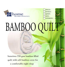 500GSM Winter Weigt 100% Bamboo Quilt Doona Cotton Cover Machine Washable