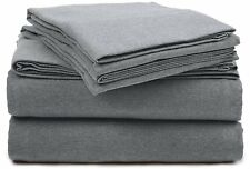 100% Cotton Great quality Jersey Sheet Sets in Gray All Sizes