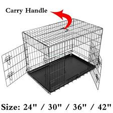 Metall Faltbarer Hundebox Pet Dog Cage Puppy Drahtkäfig Transportkäfig -S/M/L/XL