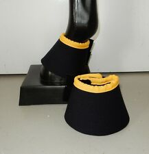 Horse Bell or Overreach Boots Black & Yellow AUSTRALIAN MADE Protection