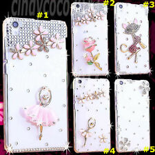 Cute Shine Bling Transparent Clear Crystal Diamond Hard Back Case Cover Skin #6