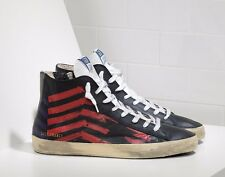 Golden Goose FRANCY distressed red & black star leather sneakers 7 8 9 10 NEW