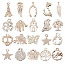 10PCs Charm Zinc Alloy Pendants Silver Gold Plated Jewelry Findings