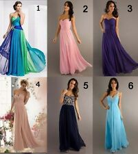 New Formal Long Evening Dresses Ball Gown Party Prom Bridesmaid Dress Stock 6-16