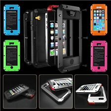 Waterproof Shockproof Aluminum Metal Gorilla Glass Case Cover For ALL iPHONE
