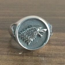 GAME OF THRONES House STARK DIRE WOLF 925 Silver RING
