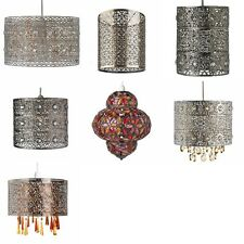 Shabby Chic Metal Moroccan Ceiling Light Shade Pendant New  Vintage Style