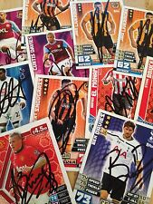 SIGNED MATCH ATTAX 14,EXTRA,WORLD CUP 2014 AND SHOOT OUT CARDS CHOOSE FROM LIST