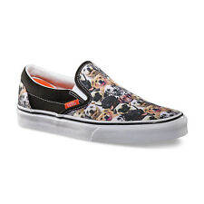 Vans Classic Slip-On Aspca Dogs Puppy Print Black White Womens Shoes Size 10