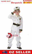 Halloween Boy Navy Soliders outfit Hero Kids Costumes 2-7Years Fancy Dress up