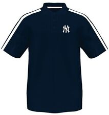 New York Yankees Majestic Synthetic Arm Polo Shirt Navy Mens Big & Tall Sizes