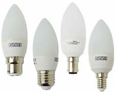 LOW ENERGY CANDLE CFL LIGHT BULBS SBC BAYONET ES SMALL EDISON SCREW WARM WHITE