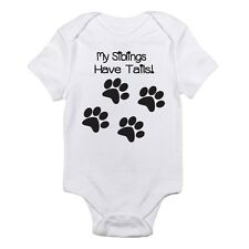 My Siblings Have Tails Cute Funny One-piece Baby Bodysuit for Boys and Girls