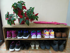 Handmade Retro Style Wooden Shoe Cabinet/Rack- Many Colours and Sizes!