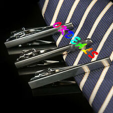Silver/Black 1PC Concise Charm Men Necktie Tie Bar Clip Clasp Cufflinks Set Gift