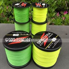 Fluorescent Yellow/Green Fishing Line 100/300/500/1000M Braid PE Dyneema Spectra