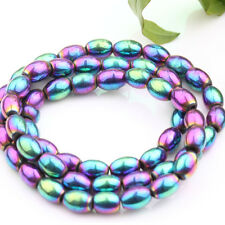 Metallic No Magnetic Hematite Gemstone Faceted Tube Olive Cube Beads 4/6/8mm DIY
