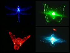 BEE, BUTTERFLY, DRAGONFLY, HUMMINGBIRD SOLAR GARDEN STAKE LIGHT BUY 4 GET 1 FREE