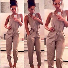 Womens Ladies Casual Summer Long Pants Playsuit Evening Jumpsuit Romper Trousers