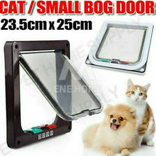 New Safe 4-way Lockable Pet Cat / Small Dog Door Large Locking Flap Frame Screen