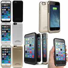 "External Battery Backup Power Bank Charger Cover Case for iPhone 6 4.7"" & 6 Plus"