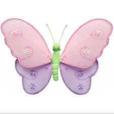 Butterfly Decor Pink Purple Green Home Kid Girls Baby Nursery Bedroom Decoration