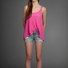 Abercrombie & Fitch Tori Sweater Tank Top Womens Pink Knit Tee T-Shirt New NWT