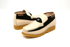 British Walkers Men's Checkers Biege/Brown Leather / Sued Slip ons Shoes 3636-06