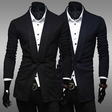 Fashion New Mens Stylish Casual Slim Fit One Button Suit Blazer Coat Jacket Top