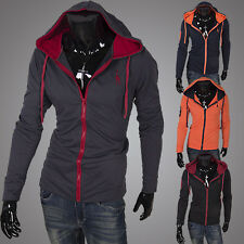 Hot Fashion Mens Slim Casual Hooded Coat Jacket Hoodies Outwear Sweatshirts Tops