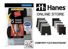 Hanes Men's Boxer Briefs Assorted Colors Tagless (Comfort Flex Waistband) 5-Pack