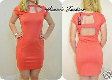 RARE @TOPSHOP TAGGED £40 UK10,12 CUT OUT BODYCON DRESS NEW
