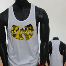 Rap Hip Hop Gza Rza ODB WU TANG CLAN COMICS Mens White Sports Tank Top