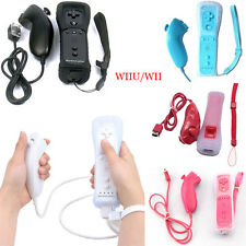 2 In 1 Built in Motion Plus Inside Remote Controller + Nunchuck For Nintendo Wii